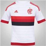 Camisa Infantil Juvenil Flamengo Adidas Branca 2015 2016 Sem Patrocínio