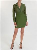 Camisa Isa de Seda Verde Tamanho 36