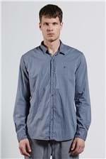 Camisa Jacquard Chicago Azul G