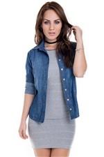 Camisa Jeans com Aplique CA0168 - M