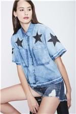Camisa Jeans Cropped Recollect - Tam: UC / Cor: BLUE