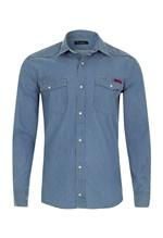 Camisa Jeans Denim Índigo Soft 2