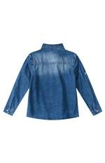Camisa Jeans Estonada Menino Malwee Kids Azul Escuro - 2