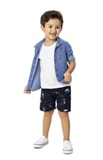 Camisa Jeans Malwee Kids Azul - 2