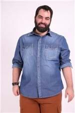 Camisa Jeans Manga Longa Plus Size M