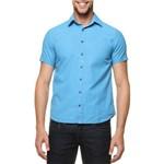 Camisa Koel Briel Azul Turquesa M