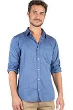 Camisa Lisa Azul Marinho Azul Marinho/P