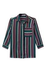 Camisa Listrada Bolso Malwee Verde Escuro - G