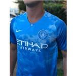 Camisa Manchester City I Azul Oficial Torcedor 2019 Tamanho M Original Lançamento