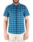 Camisa Manga Curta Slim Xadrez CS78098