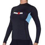 Camisa Manga Longa de Ultra Compressão DX3 X-Pro IRONMAN - Feminino- Preto / Azul