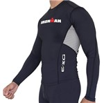 Camisa Manga Longa de Ultra Compressão DX3 X-Pro IRONMAN - Masculino - Preto / Cinza