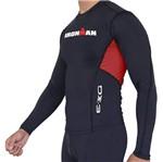 Camisa Manga Longa de Ultra Compressão DX3 X-Pro IRONMAN - Masculino - Preto / Vermelho