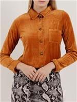 Camisa Manga Longa Feminina Autentique Caramelo