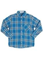 Camisa Manga Longa Juvenil para Menino - Azul