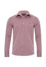 Camisa Manga Longa Slim Fit Rosa 4