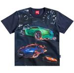 Camisa Masculina Carros Corrida Preto - Kyly 1