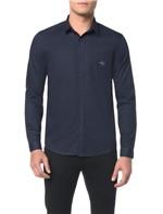 Camisa ML CKJ Masc Estampa Etiqueta CK - M