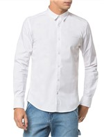 Camisa Ml Ckj Masc Recortes Basica - Branco 2 - M