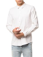 Camisa Ml Ckj Masc Slim Piquet - Branco 2 - M
