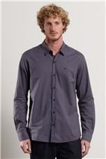 Camisa Night Fil a Fil Azul Denim G