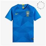 Camisa Nike Mc CBF Azul 2018 Infantil