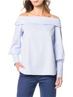 Camisa Ombro a Ombro Calvin Klein Azul Claro - M