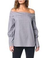 Camisa Ombro a Ombro Calvin Klein Preto - GG