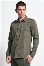 Camisa Overshirt Military Verde M
