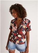 Camisa Pijama Est Aloha Azul Marinho P