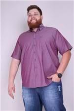 Camisa Plus Size Manga Curta Vinho 6