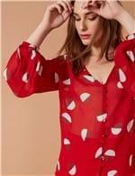 Camisa Poá Colagem Vermelho / P