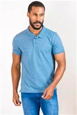 Camisa Polo Aramis Moline com Friso Malha Azul Tam. P