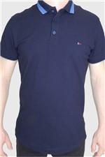 Camisa Polo Aramis Slim Básica Azul Tam. M