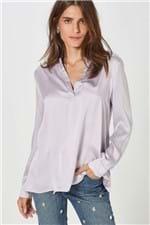 Camisa Polo Fabiola Cetim Lilas Exotique - 36