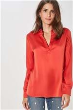 Camisa Polo Fabiola Cetim Vermelho Brasao - 36