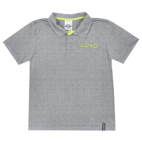Camisa Polo Infantil Abrange Game Mescla 04