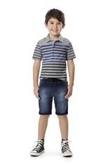 Camisa Polo Infantil Malwee Kids Cinza - 8