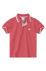 Camisa Polo Meia Malha Menino Malwee Kids Vermelho - 1