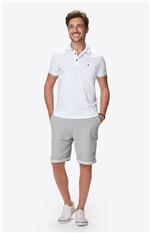 Camisa Polo Slim Bordado Malwee Branco - XGG