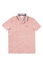 Camisa Polo Slim Piquê Estampada Enfim Rosa Claro - G