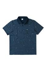Camisa Polo Tradicional Listrada Wee! Azul Escuro - G