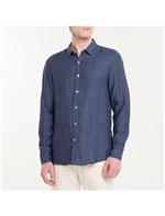 Camisa Regular Cannes Linen - Azul Marinho - 2