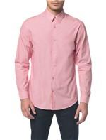 Camisa Regular Ml Micro Listrad Vermelho Camisa Regular Ml Micro Listrad - Vermelho - 1