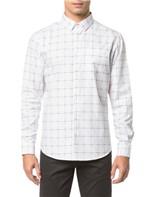 Camisa Regular Ml Xadrez Falhado - Branco 2 Camisa Regular Ml Xadrez Falahdo - Branco 2 - 1