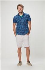 Camisa Slim Adulto Malwee Azul - M