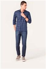 Camisa Slim Aramis Menswear Xadrez Azul Tam. G