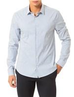 Camisa Slim Calvin Klein Cannes Listra Preenchida Branco - 2