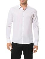 Camisa Slim Calvin Klein Cannes Toque Suave Branco - 3