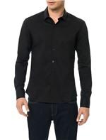 Camisa Slim Calvin Klein Cannes Toque Suave Preto - 2